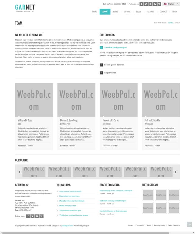 Drupal 7 - Garnet Theme Guide for Developers | WeebPal
