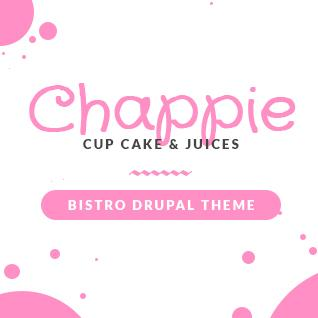 Chappie Cupcake - Food and Recipe Drupal Theme