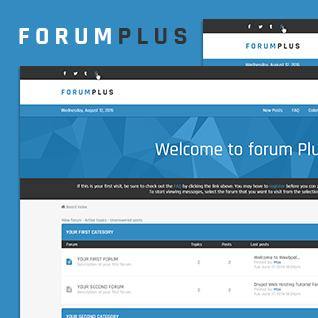 Forum Plus - Responsive Drupal Forum Theme