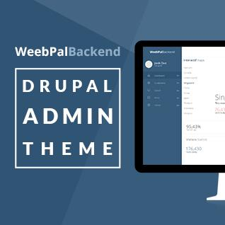 Responsive Drupal Admin Theme - WeebPal Backend