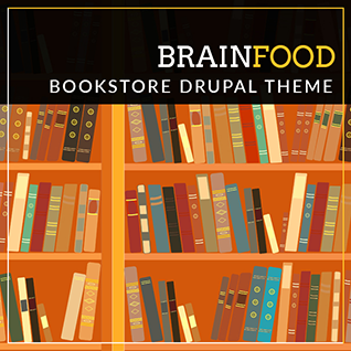 Brainfood - Bookstore & Online Library Drupal 8 Theme