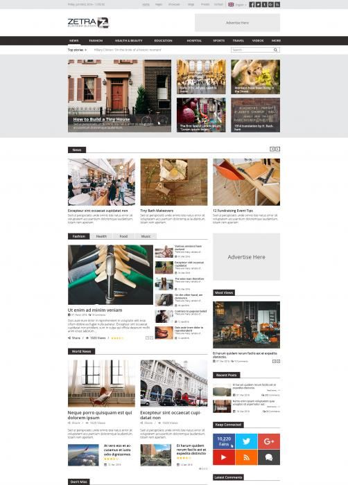 ZetraZ - News & Press Drupal 8 Theme