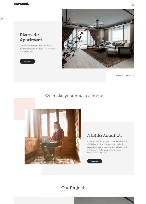 Norwood - Your Cozy Furniture Drupal 8 Theme
