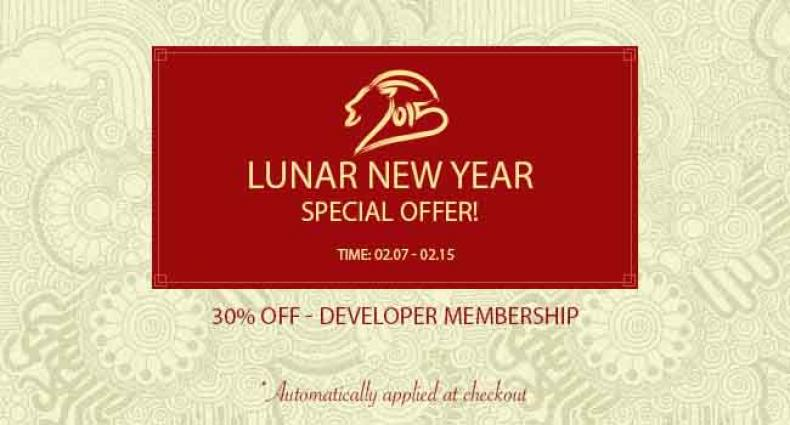 [Lunar New Year Offer] Get 30 OFF Your Developer Membership