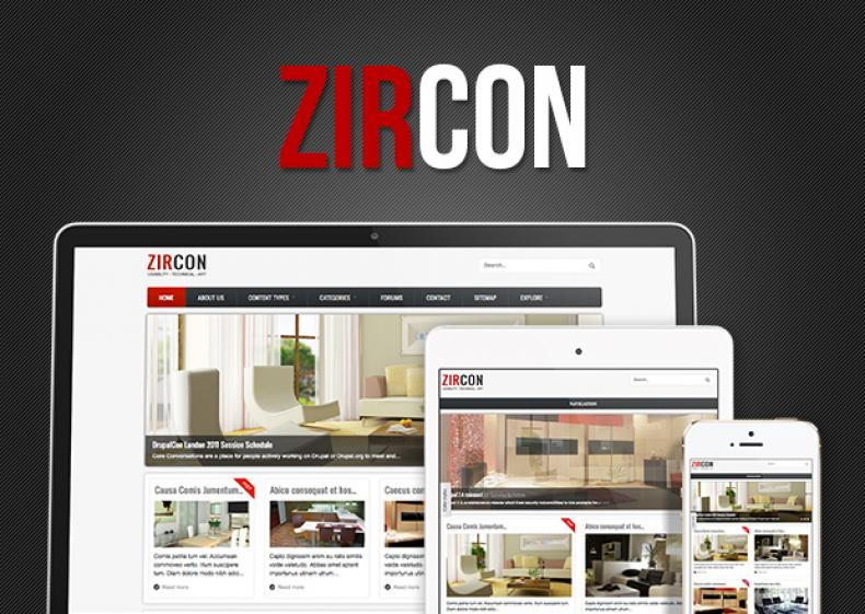 Zircon Showcase - Multipurpose Free Prominent Drupal Theme